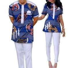 African Clothing Cotton Top-Pants Patchwork Ankara Dashiki For African Wear Styles For Men, African Shirts For Men, African Attire For Men, African Clothing For Men, African Style, Couples African Outfits, Best African Dresses, Latest African Fashion Dresses, African Print Fashion