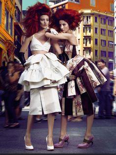 awesome Vogue Brasil | Editorial de Moda Abril 2013 | Cris Herrmann e Carol Thaler por Fabio Bartelt