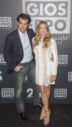 La actriz Patricia Montero y Alex Adrover en la fiesta del 25º aniversario de Gioseppo en Madrid.