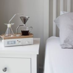 This alarm clock brews your coffee