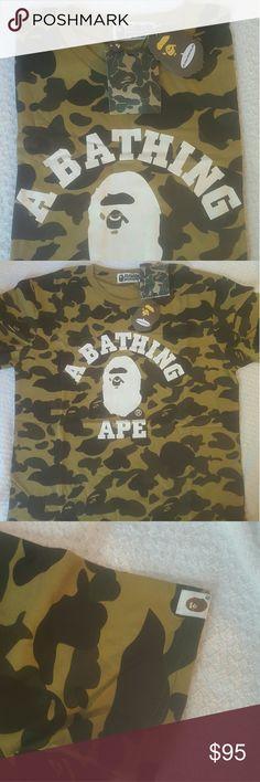 A bathing ape tshirt original a  bathing ape cotton tshirt in package tag a bathing ape  Shirts Tees - Short Sleeve