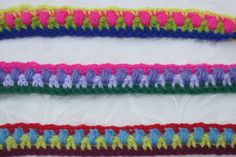 MADE TO ORDER by the metre by AvandaCrochet on Etsy Purple Lilac, Green And Purple, Pink Yellow, Boho Braid, Hand Crochet, Braids, Colours, Blanket, Sewing