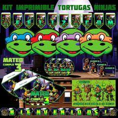 Kit Imprimible y editable de Tortugas Ninjas  por AhastariDesigns