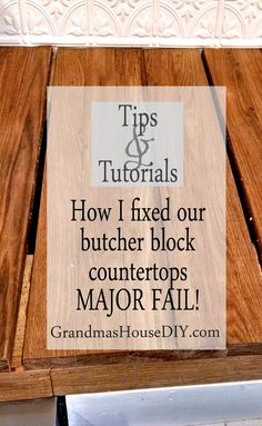 How to tutorial oak kitchen butcher block counter tops, how I fixed our major…