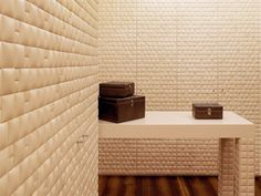 WATERNATURAL Leatherwall Collection by Studioart #leather #design #architecture #leathewall