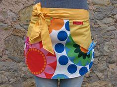 Schürzen - Schürze für Wäscheklammern - RETRO gelb - ein Designerstück von…