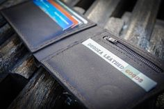 """Minimalist"" leather wallet with 4 credit card slots and open space for cash. Real wallet for real man! It's here - www.doodkaleather... #walletformen, #leatherwalletformen, #bifoldwallet, #doodkaleathergoods"