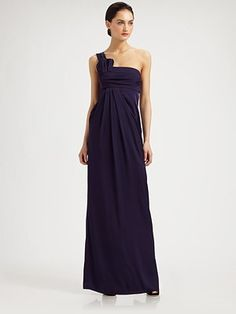 Armani Collezioni One-Shoulder Silk Gown
