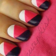 Geometrical nails by cutepolish