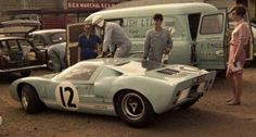 Innes Ireland / Jochen Rindt, #12 Ford GT40 Mk.I, (F.R. English Ltd / Comstock Racing) 24 Hours Le Mans 1966 (DNF)