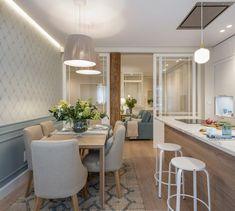 Diseño de cocina comedor - Sube Interiorismo Dining Room Design, Kitchen Design, White Furniture, Home Decor Kitchen, Decoration, Sweet Home, Interior Design, Bilbao, Luz Natural
