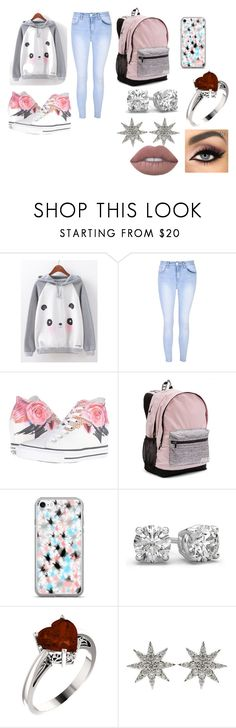 """Untitled #97"" by mairethekiller on Polyvore featuring Glamorous, Converse, Victoria's Secret and Bee Goddess"