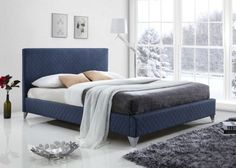 Time Living Brooklyn Fabric Bed Frame