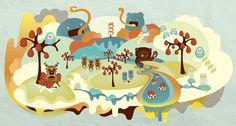 Illustration: Madriguera by Pamela Castillo, via Behance