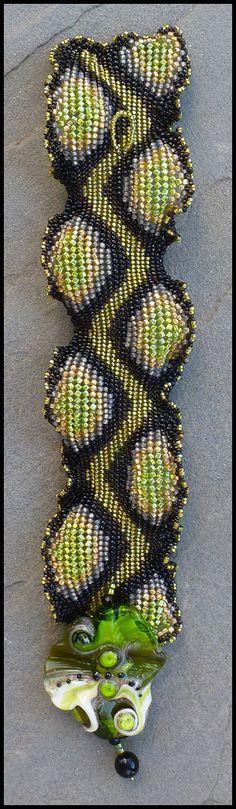Singlewide Ndebele Ruffle Bracelet Instructions by ellejewelry, $15.00 love it! must try! #ecrafty