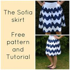 FREE Sewing Patterns and Tutorials|On the Cutting Floor - Free sewing pattern for women skirt: sofia skirt for women