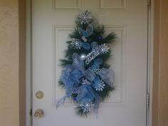 Handmade Christmas Snowflake Swag wreath ,wall hang, and Door Hang #LazyDaysPaintings