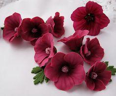 Polymer Clay Flower Tutorial by ebetys.blogspot.fi