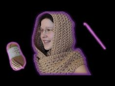 How to crochet a scoodie hooded scarf - Woolpedia - YouTube