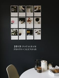 I love this idea for a personalized calendar. Love the pictures here, but personal ones would make it more engaging. lingered upon: in our home Do It Yourself Inspiration, Design Inspiration, Sunday Inspiration, Photo Projects, Diy Projects, Rena, Photo Calendar, 2013 Calendar, Fotos Do Instagram