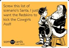 Washington Redskins Football ecard
