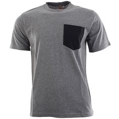 Carhartt Contrast Pocket T-Shirt - Dark Grey Heather-Black