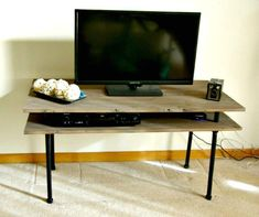 Build A Tv Stand, Tv Stand Plans, Diy Tv Stand, Bar Stand, Stand Tall, Modern Entertainment Center, Entertainment Stand, Entertainment Products, Diy Regal