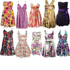 vestidos floridos 8 Vestidos Floridos   Verão 2012