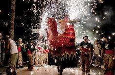 Sept. 2, 2012: Spectators gather as elaborate fireworks are set off during La Festa Major de Sitges in the city of Sitges, Spain, on Aug. 24.