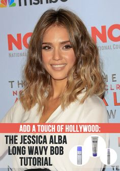 Add a Touch of Hollywood: The Jessica Alba Long Wavy Bob Tutorial | Latest-Hairstyles.com