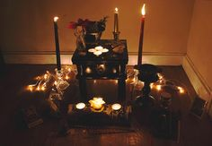 """whitewit-ch:  """"Yule Altar  """""""