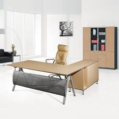 Cheap price factory direct L shaped computer table office furniture manager desk with drawer