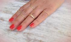 Hey, I found this really awesome Etsy listing at https://www.etsy.com/listing/151040616/4-gold-rings-gold-ring-stacking-rings