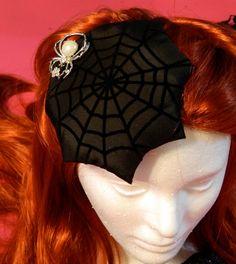 spider + web hat, Etsy LookCoy