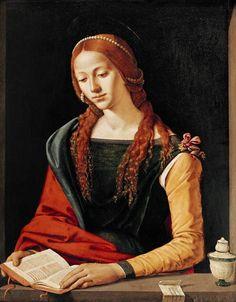 """""""Maria Magdalena"""" (1500-1510) von Piero di Cosimo (geboren um 1462 in Florenz, gestorben um 1521 ebenda), italienischer Maler und Zeichner der Renaissance."""