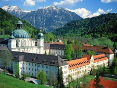 Ettal Monastery in Bavaria, Germany