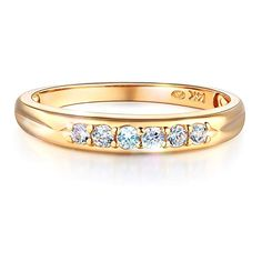 Wellingsale Mens 14K 3 Tri Color White Yellow and Rose//Pink Gold Polished CZ Cubic Zirconia Wedding Ring Band