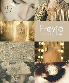 """Mythology Women of the Norse Pantheon """" Hail to the Jeweled Lady on Lammas morning whose flesh is her treasure, and worth all the greatest treasure, all that gold can buy. Wicca, Magick, The Golden Lady, Norse Goddess, Goddess Names, Norse Vikings, Asatru, Beautiful Goddess, Greek Mythology"""