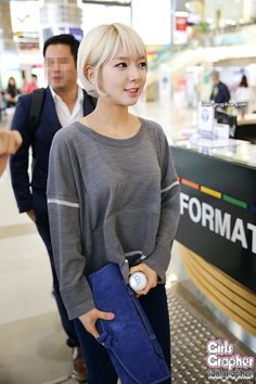 AOA ChoA @ Airport Kpop Girl Groups, Korean Girl Groups, Kpop Girls, Pop Fashion, Girl Fashion, Cho A, Gangnam Style, Airport Style, Airport Fashion
