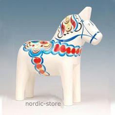 Dalapferd   7 cm, weiß