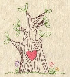 Great Tree with a Heart Embroidery Pattern from Urban Threads