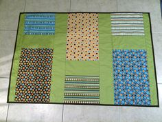 """I call this """"Quilt in a Day"""" because…I made it in a day! LOL I didn't start out with that goal, but I just started and couldn't stop. It's a toddler sized quil…"""