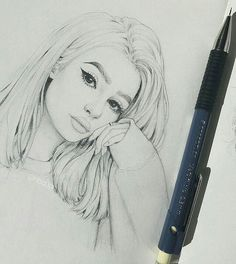 The Secrets Of Drawing Realistic Pencil Portraits - such a beautiful portrait! this looks amazing! Secrets Of Drawing Realistic Pencil Portraits - Discover The Secrets Of Drawing Realistic Pencil Portraits Pencil Art Drawings, Art Drawings Sketches, Cute Drawings, Sketches Of Girls, Girl Drawings, Horse Drawings, Girl Sketch, Realistic Drawings, Cute People Drawings