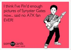 I think I've Pin'd enough pictures of Synyster Gates now... said no A7X fan EVER!