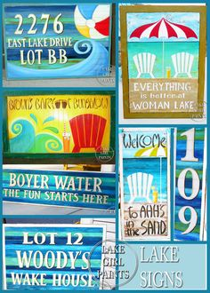 Lake Girl Paints - Love these personalized signs!!!!!!