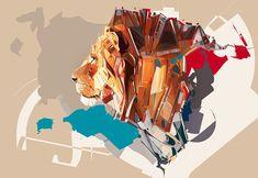 Lion Image Designed in Adobe Illustrator