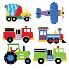 Trains Airplanes Firetrucks Wallpaper Wall Mural Boys Room Decor Stickers