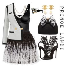 """""""Chanel. - scream queens"""" by prettyassprince ❤ liked on Polyvore featuring Wolford, Alice + Olivia, Giuseppe Zanotti, Bling Jewelry, Miss KG, Balmain and Chanel"""