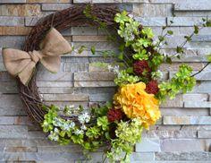 Spring Wreath Easter Wreath Summer Wreath Floral by HouseOfMark, $70.00