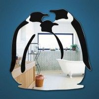 Penguin Mirror .... I want this for my bathroom!